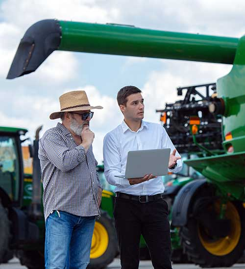 Farmer using AIC fuel consumption control solutions, flow meters and more.